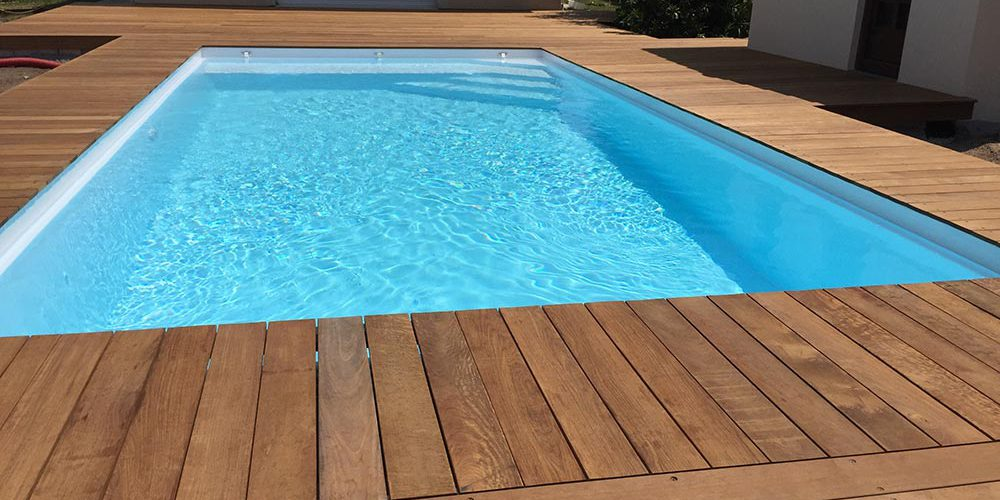 Terrasse De Piscine En Bois En Gironde Plage De Piscine En